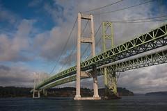 Tacoma Narrows (China Chas) Tags: bridge usa train washington engineering amtrak cascades suspensionbridge 1022mm span tacomanarrows 2013 sturdygertie