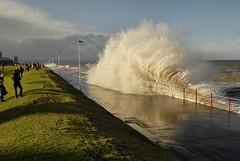 Big Tides Big Waves (paul_p!) Tags: storm wales bigwaves rhuddlan northwales stormyday strongwinds rhylseafront