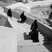 hijabista - street of Makkah   black and white mode fujifilm x20
