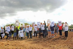 Protest against housing on the hill around Sharphill wood