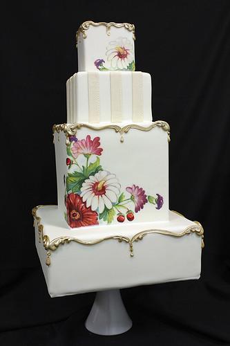 Elegant wedding cakes oakleaf cakes bake shop painted vintage plate inspired wedding cake junglespirit Image collections