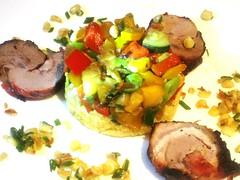 Pork  and pan roasted veggies