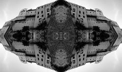 (Kispio) Tags: white black lumix mirror gorgeous symmetry panasonic mirrored castello bianco nero architettura cagliari architetture casteddu digitalmirror photoscape kispio