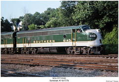 SOU FP7 6143 (Robert W. Thomson) Tags: railroad train diesel kentucky railway trains somerset southern locomotive trainengine sr sou coveredwagon fp7 f7 emd funit f7a aunit fouraxle cabunit