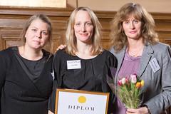 Helena Jonsson, Frida Edoff och Elenor Wolgers från Folkoperan, nominerad till Web Service Award 2013 i klassen Information & Service.