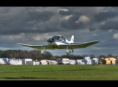 G-BACL in flight (Paul Simpson Photography) Tags: white plane airplane flying aircraft small flight aeroplane landinggear takeoff eastyorkshire lightaircraft photosof imageof imagesof sonya700 april2010 breightonairfield gbacl egbr paulsimpsonphotography