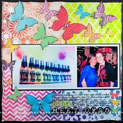 LOAD4 (Connie Hanks) Tags: stencils scrapbooking layout folkart butterflies plaid load templates heidiswapp sprayink dyanreaveley thecraftersworkshop dylusions