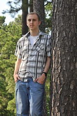 Old Fashioned Tree Lean (Cytamius) Tags: boy portrait man tree outside graduation grad