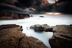 Craked (yui fan) Tags: sunset sol rain rock clouds cabo do por cascais brigde raso 500px ifttt fredconcha