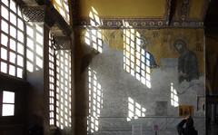 Deësis mosaic in sunlight, Hagia Sophia
