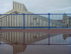 Fresh From Rodney's School of Reflection (Katie_Russell) Tags: blue ireland reflection water reflections puddle cafe rail crescent reflected reflect prom promenade rails northernireland ni railing railings portstewart ulster reflects nireland countylondonderry countyderry coderry colondonderry colderry countylderry