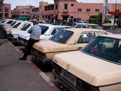 240 D (Dahrth) Tags: cars mercedes taxi taxis morocco maroc mercedesbenz marrakech voitures gf1 lumix20mm gf120
