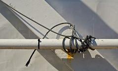Tied and Wound (JeffStewartPhotos) Tags: toronto ontario canada sign signage photowalk railing torontophotowalk topw torontophotowalks topwwgp waterfrontgrenadierpond waterfrontandgrenadierpond