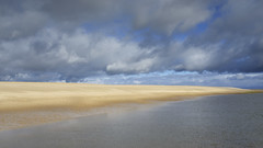Colour By Norfolk (Russ Barnes Photography) Tags: morning sea cloud storm beach bar gold coast nikon norfolk minimalism wellsnextthesea russbarnes d800e sigma35mm14art