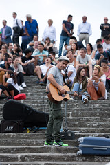 Solo (Mikey Down Under) Tags: florence italy firenze tuscany piazzale michelangelo entertainer musician steps evening crowd guitar singer