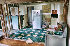 Layers Of Time (paul.wesson) Tags: hdr hdrefexpro2 house renovation kitchen tile hardwood studs wallpaper history eras
