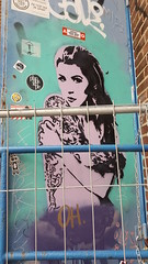 Oh girl (Digger Barnes) Tags: graffiti ndsm amsterdam door stencil girl
