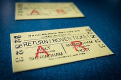 North Norfolk Railway Return Ticket (ho_hokus) Tags: 2016 england fujix20 fujifilmx20 heritagerailway norfolk uk tickets northnorfolkrailway