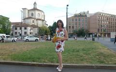 Milan - Piazza Fontana (Alessia Cross) Tags: crossdresser tgirl transgender transvestite travestito