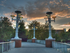 Bridge to the Sunset (Cocoabiscuit) Tags: cocoabiscuit olympus em5 knoxville tennessee worldsfair