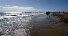 Beach Walk... (lady_sunshine_photos) Tags: grancanaria beachwalk strand beach spiegelung reflection maspalomas playadelingles morning ladysunshine ladysunshinephotos supershot wonderfulworld leicavluxtyp114 kanaren canaryislands wasser water meer sea