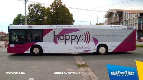Info Media Group - BH Telecom Happy, BUS Outdoor Advertising, 09-2016 (1)
