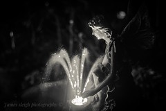 Fuji x-t10 pentacon (Jasrmcf) Tags: fuji fujinon fujifilm fujixt10 fujimacro macro water flowing moving smooth bokeh bokehlicious bokehgraph waterfountain fountain angel gothic moody pentacon blackandwhite bw