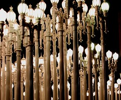 LACMA Lights (Prayitno / Thank you for (11 millions +) views) Tags: konomark museum of contemporary arts down town la los angeles miracle mile wilshire district outdoor discarded street lights public art display night time photography ca california lacma losangelescounty