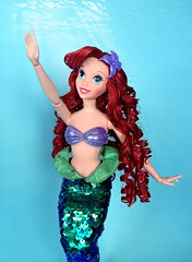 When's It My Turn? (honeysuckle jasmine) Tags: mattel disney princess little mermaid ariel hasbro doll barbie