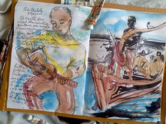 the Garden of Bali - an artists diary with verse by Keith Hansen - in water colour circa 1972 (keiths artwork) Tags: artists diaries by keith hansen international artist