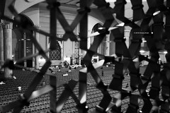 Abuja National Mosque (Stationary Nomads) Tags: abuja nigeria africa capital city urban canon 1000d amenaamer people life nationalmosque mosque centralmosque nationalmosqueofabuja abujanationalmosque prayer religion islam muslim prayerhall mosaic islamic islamicarchitecture architecture bw blackandwhite