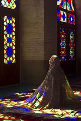The time of prayer (andreagiube / Andrea Giubelli) Tags: iran shiraz mosque nasirolmolk prayer