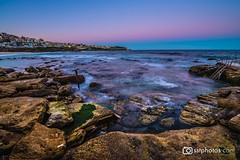 Steps Into The Ocean (silardtoth) Tags: water australia bondi sydney aspect 23 beach beachscape blue bronte coast coogee houses landscape nature new south wales nsw ocean rocks rough sea seascape stairs summer sunset tamarama travel vacation