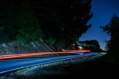 twisting through grizzly peak (pbo31) Tags: california nikon d810 color night dark black october fall 2016 eastbay alamedacounty boury pbo31 hillerhighlands oakland lightstream traffic motion twist curve roadway