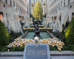Channel Gardens at The Rockefeller Center, New York City (jag9889) Tags: jag9889 usa manhattan rockefellercenter newyork outdoor 2016 christmas holiday midtown newyorkcity decoration fountain display 20161128 ornaments angel ny nyc unitedstates unitedstatesofamerica us