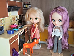 Preparing some food for hungry dolls