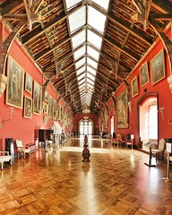 The Gallery Room of Kilkenny Castle, a Norman Castle from the 13th Century in the heart of the small city of Kilkenny Ireland. Get there easily by road or rail with loads of trendy eateries and excellent hotels. Haunted tours, witchcraft, history and arch