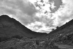 Càrnan Cruithneachd b/w (hr43) Tags: fallsofglomach sallachy loch long dornie wester ross highland scotland