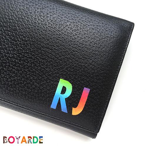 Alphabet Gradient Smythson Travel purse rj close up copy