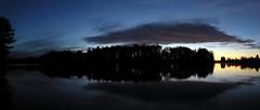 Bass Lake sunrise (yooperann) Tags: bass lake gwinn upper peninsula michigan sunrise clouds panorama