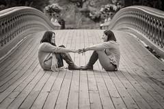 Couple on Bow Bridge (Havoc315) Tags: centralpark nikond750 tamron8518vc tamron8518 couple engagement portrait nyc bowbridge