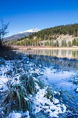 Release The Frost at Break of Day (2016) (VRileyV) Tags: riley lake jasper frost october 2016 mountain alberta ab watersky water frozen frozenlake landscape