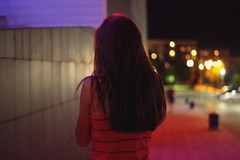 (mihxiii) Tags: 50mm night girl 18 f18 bokeh colors cinema