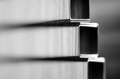 Saddle Stitching (benjaminjohnson1983) Tags: 2016 abstract blackwhite flickr hemelhempstead macro macromondays rows saddlestitching stitch staples