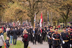 20161111_0034_1 (Bruce McPherson) Tags: brucemcphersonphotography remembranceday southmemorialpark southmemorialparkcenotaph cenotaph vancouverpolice vpd cadets marchpast march marching autumn fall fallleaves memorial vancouver bc canada