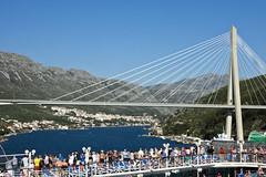 Franjo Tuman Bridge Dubrovnik (donachadhu) Tags: dubrovnik tourists sonya77 cruiseship croatia