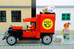 Too many parcels to deliver (Lesgo LEGO Foto!) Tags: lego minifig minifigs minifigure minifigures collectible collectable legophotography omg toy toys legography fun love cute coolminifig collectibleminifigures collectableminifigurecars carproject project postoffice mail mailing post posts femalepostofficeworker postofficeworker driver postcar
