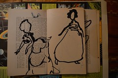 sisters (Danny W. Mansmith) Tags: workinprogress artistbook drawings dannymansmith improvisational quick gestural time hope art