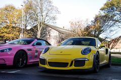 Colourful (MJParker1804) Tags: porsche 911 991 gt3 rs pts paint sample racing yellow 40 flat 6 pdk pink aston martin dbs volante convertible v12