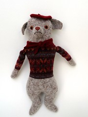 Dog #5 (Mimi K) Tags: boy dog wool sweater doll fair beret isle